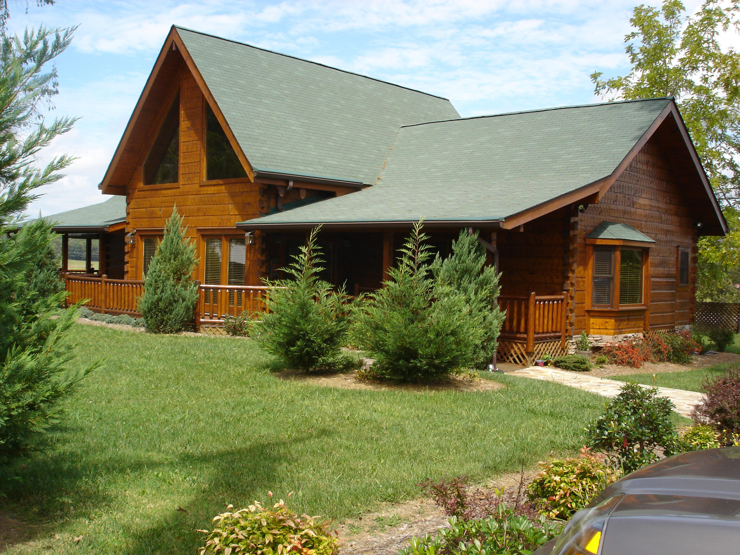 Amazing photo of Barna Log Homes at Fall Creek Falls with #2D789E color and 2592x1944 pixels